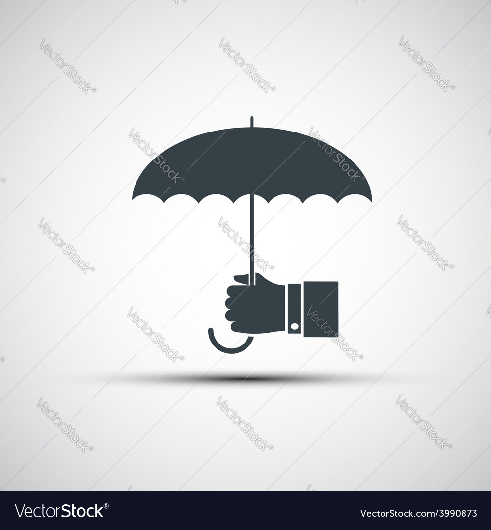 Logo of a human hand holding the umbrella vector   Price: 1 Credit (USD $1)