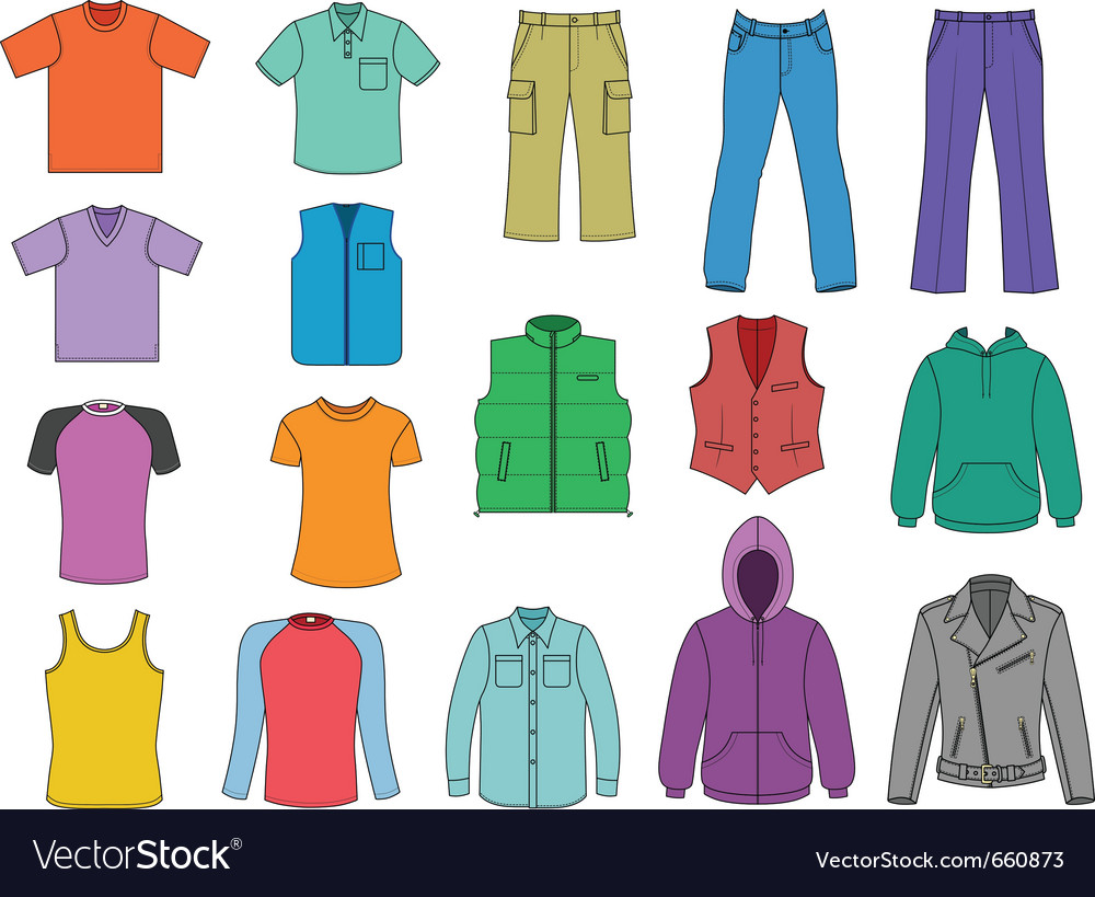 Man clothes vector | Price: 1 Credit (USD $1)