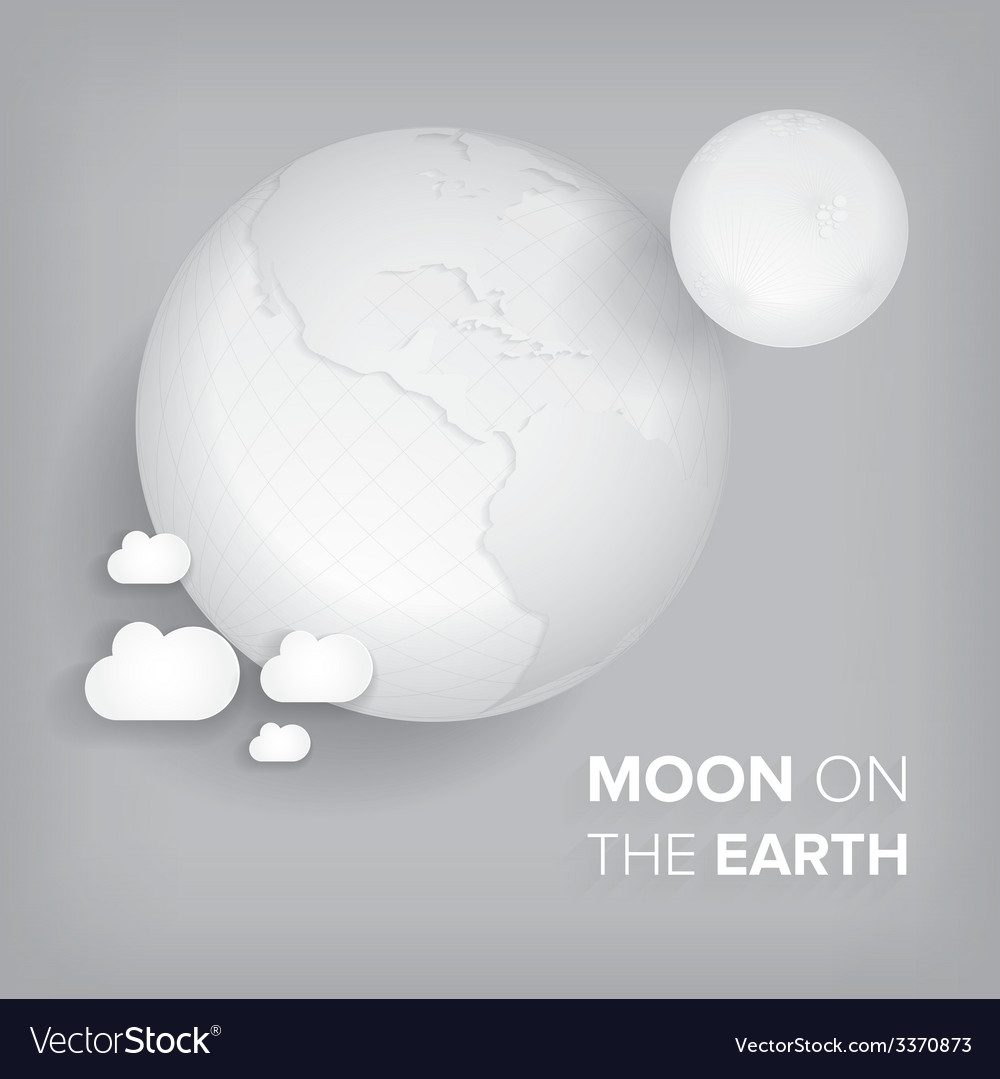 Moon on the earth vector | Price: 1 Credit (USD $1)