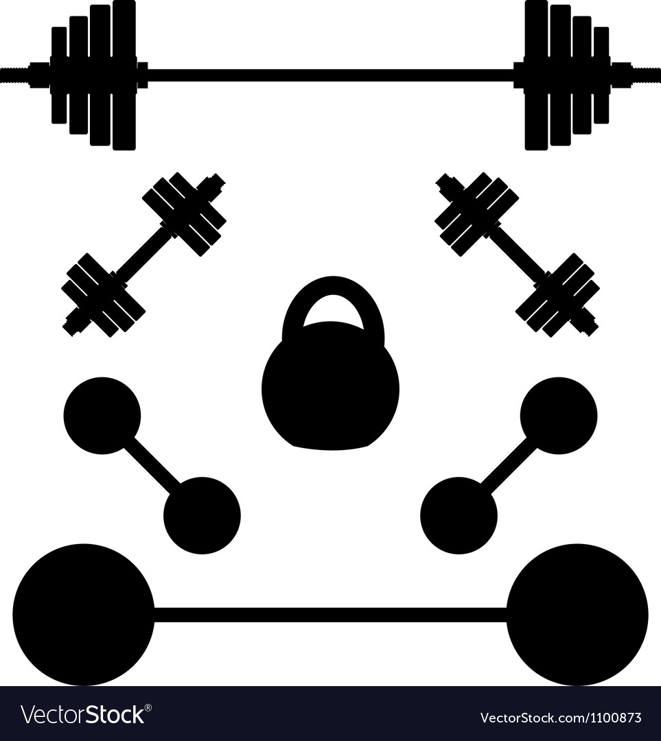 Silhouettes of weights vector | Price: 1 Credit (USD $1)