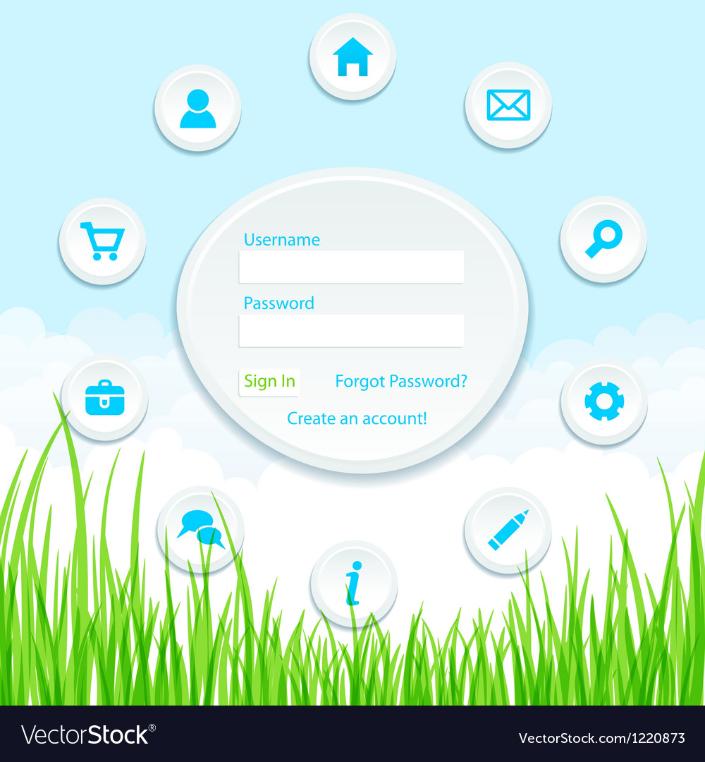 Site template vector | Price: 1 Credit (USD $1)