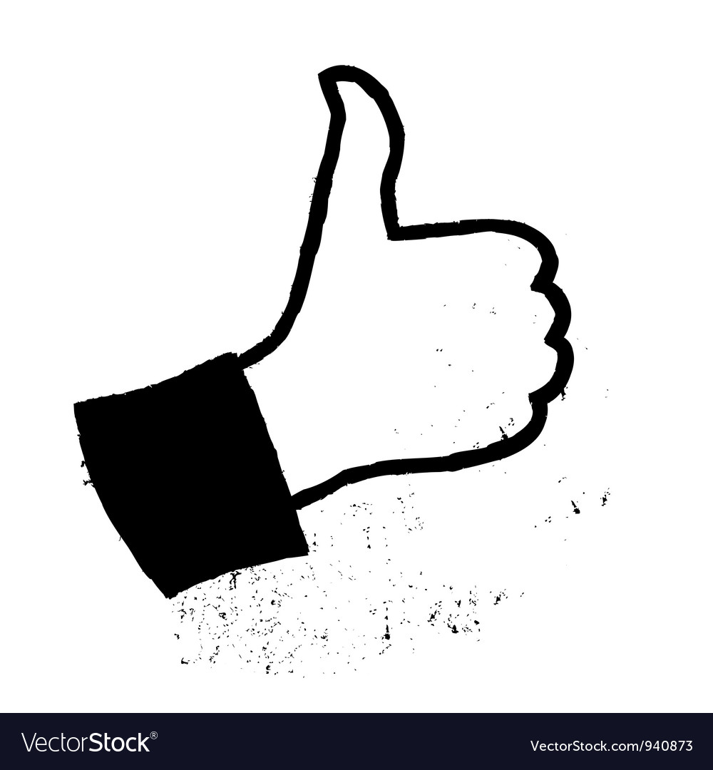 Thumb up grunge icon vector   Price: 1 Credit (USD $1)