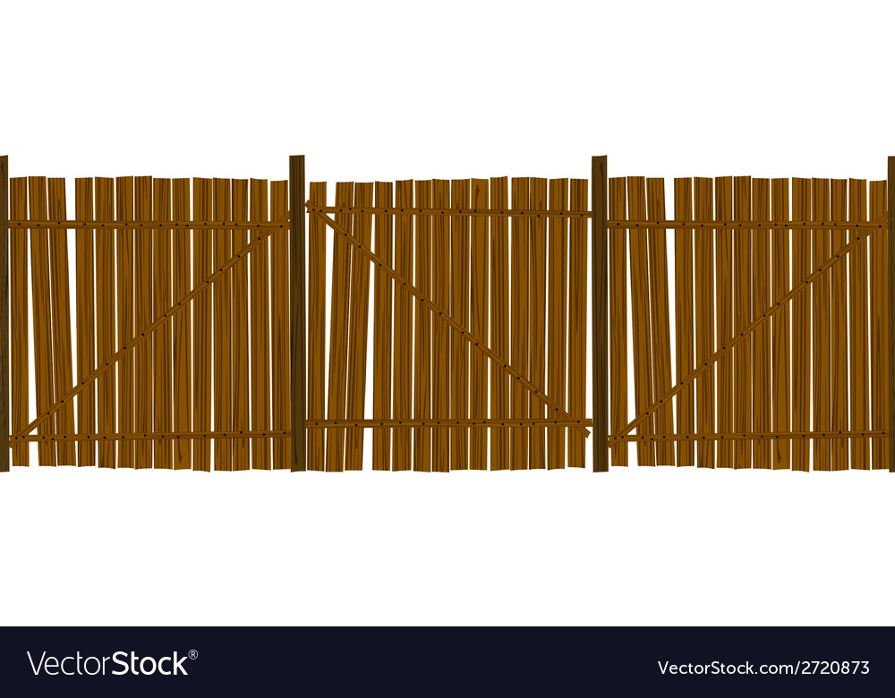Wooden fence pattern vector | Price: 1 Credit (USD $1)