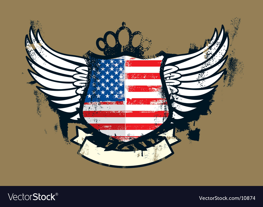 American grunge emblem vector | Price: 1 Credit (USD $1)