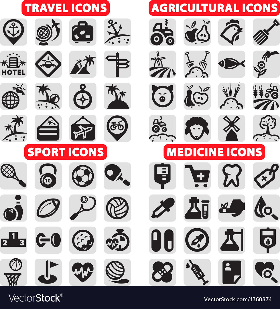Big icons set vector | Price: 1 Credit (USD $1)