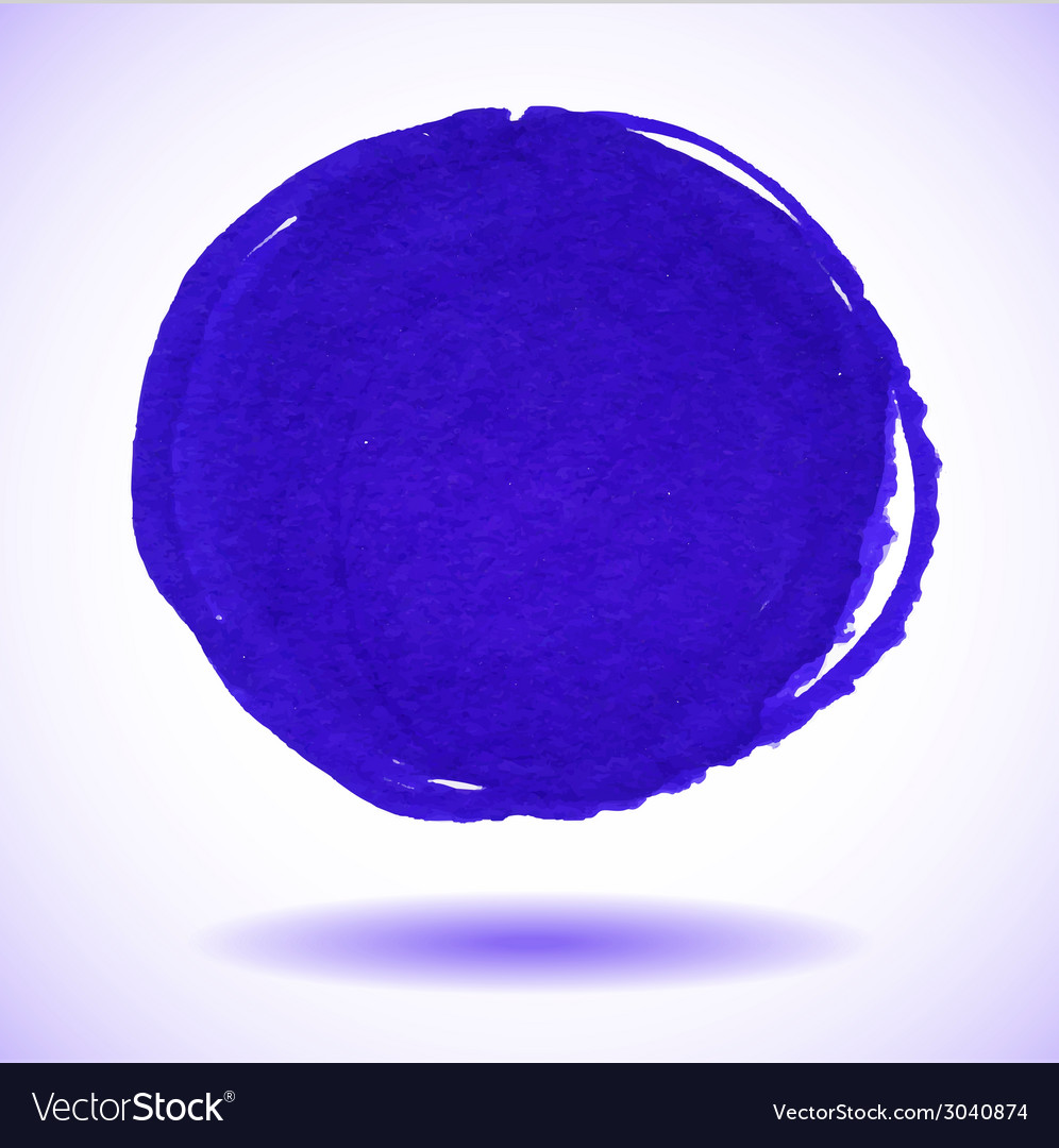 Blue marker circle stain vector | Price: 1 Credit (USD $1)