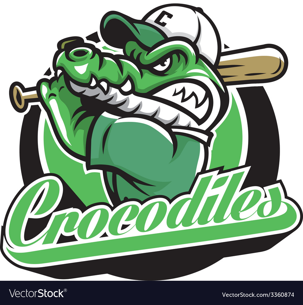Crocodile baseball mascot vector | Price: 3 Credit (USD $3)