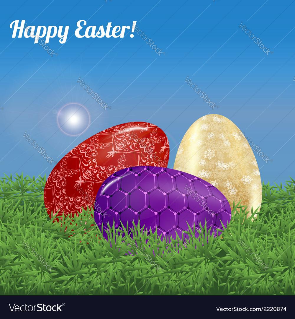 Easter background landscape vector | Price: 1 Credit (USD $1)