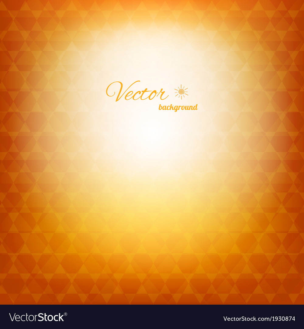 Geometric abstract sunny background vector | Price: 1 Credit (USD $1)
