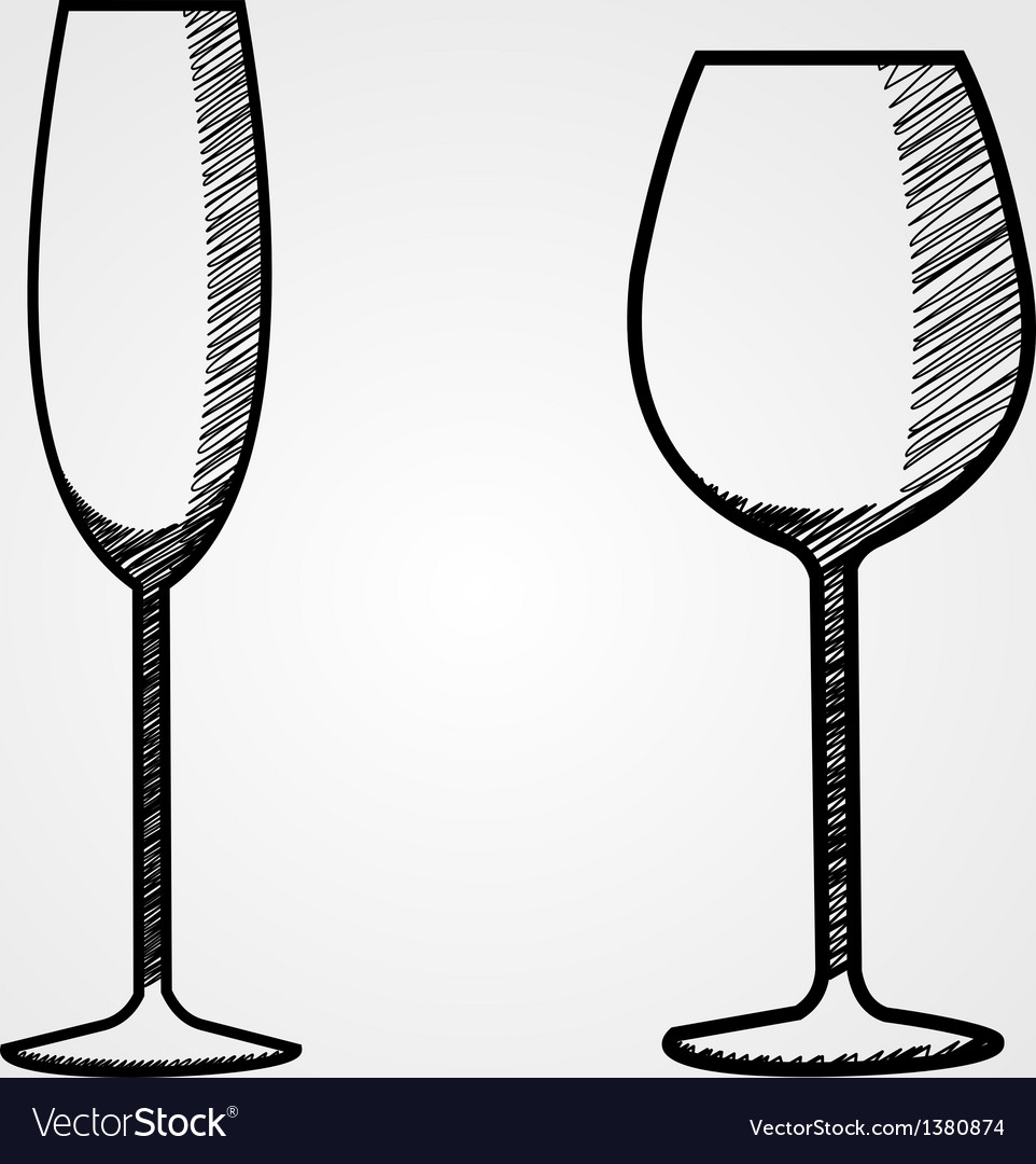 Hand drawn wine collection vector | Price: 1 Credit (USD $1)