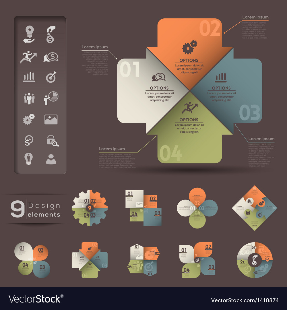 Infographic element template vector | Price: 1 Credit (USD $1)
