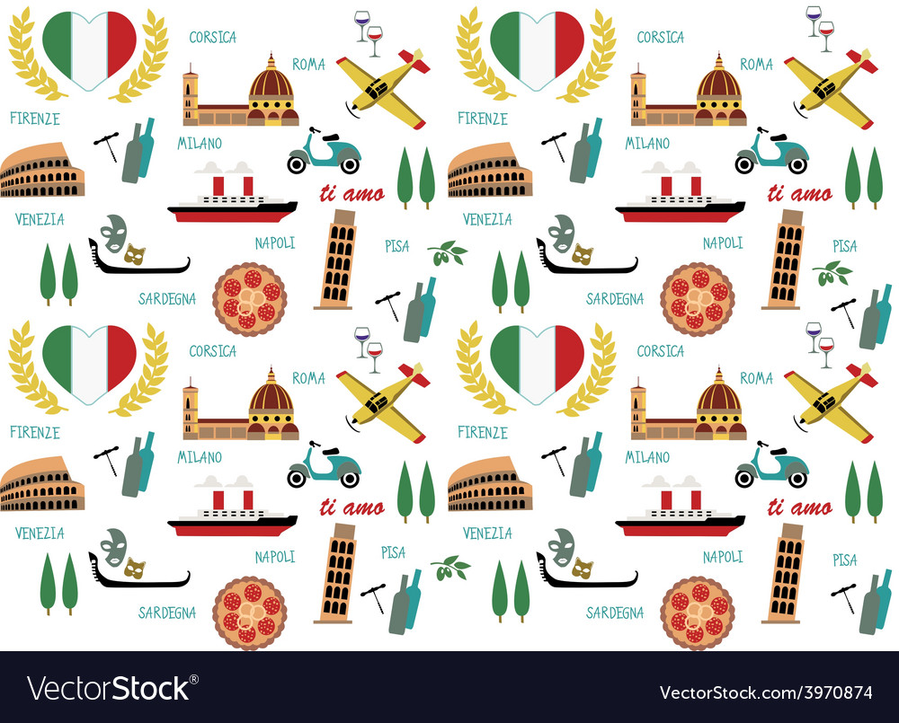 Italy pattern vector | Price: 1 Credit (USD $1)