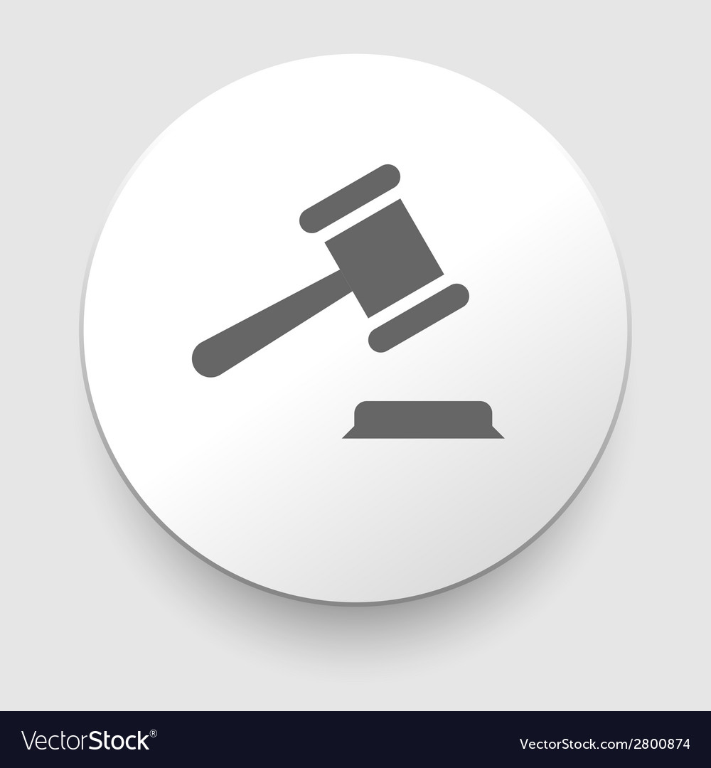 Judge or auction hammer icon vector | Price: 1 Credit (USD $1)