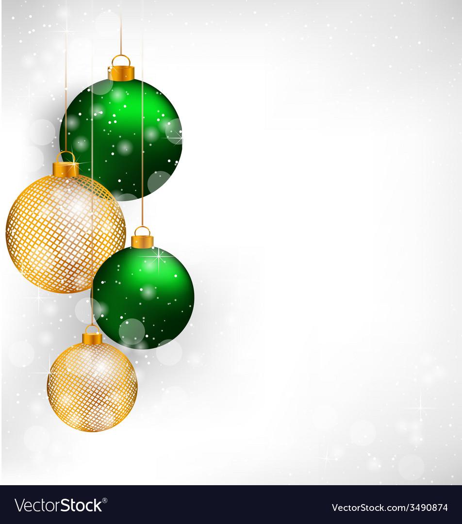 Netting christmas balls on grayscale vector | Price: 1 Credit (USD $1)