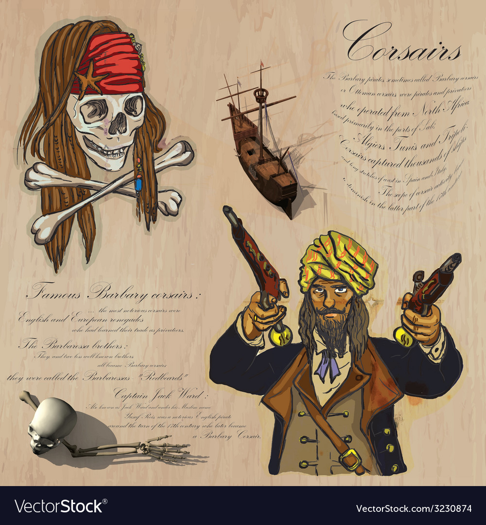 Pirates - corsairs vector | Price: 1 Credit (USD $1)