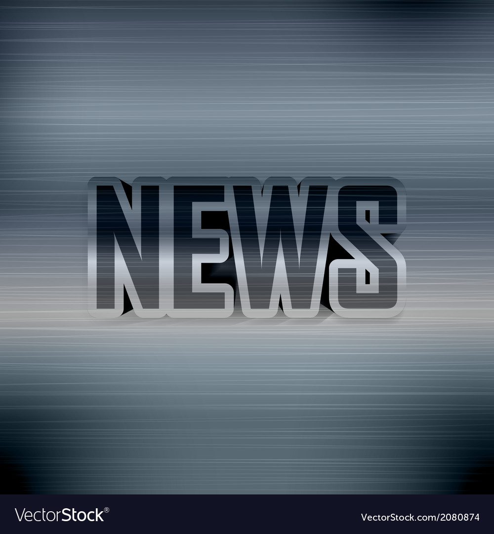Printed poster with news vector | Price: 1 Credit (USD $1)