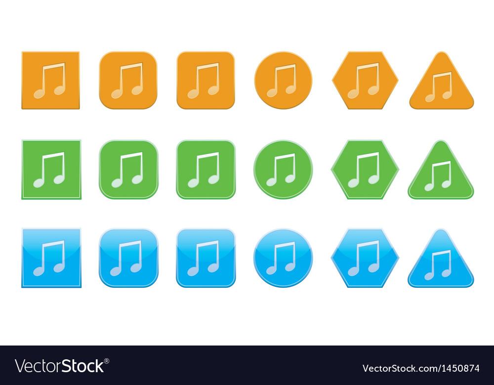 Set of audio icons vector   Price: 1 Credit (USD $1)