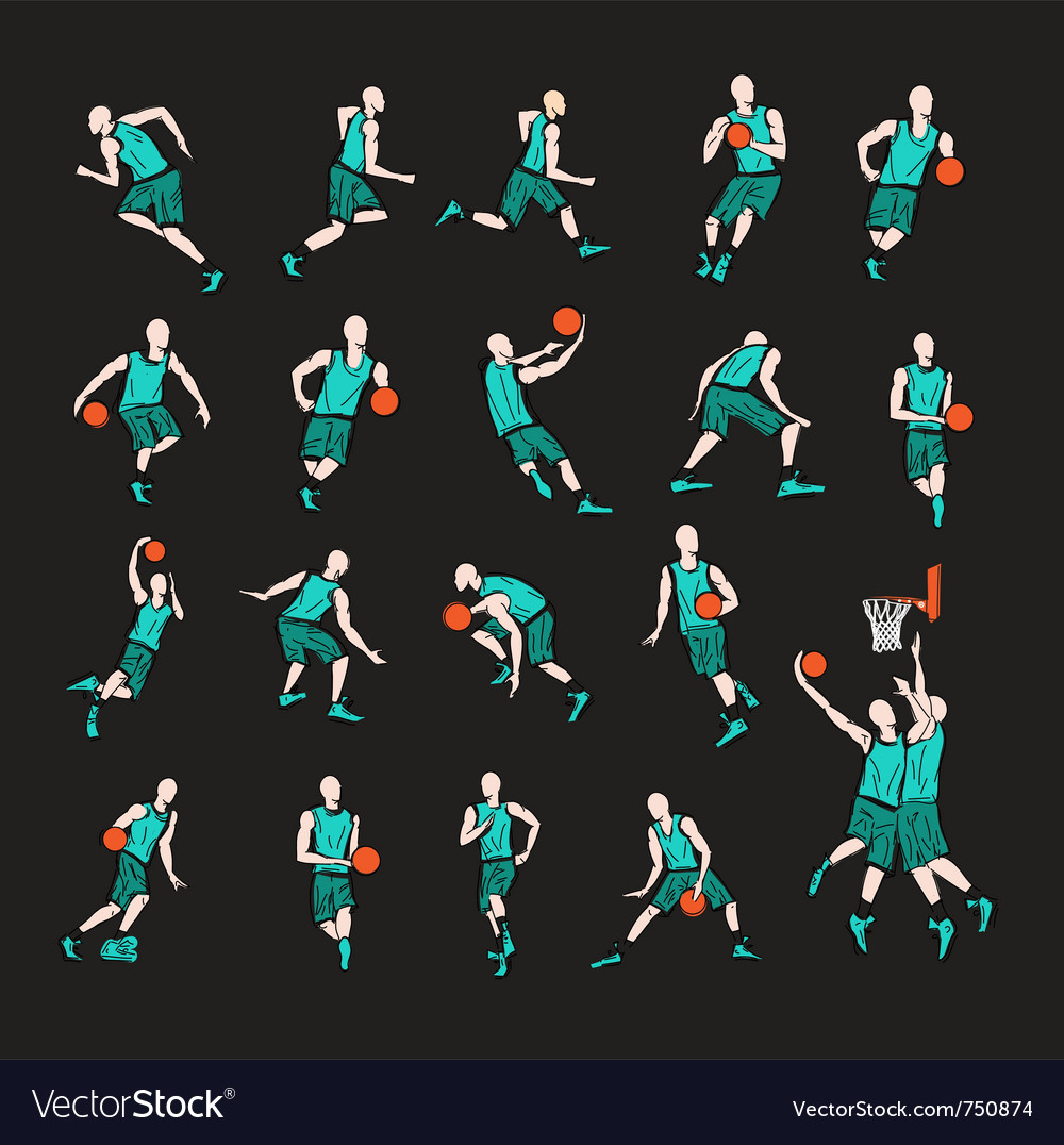 Sport players vector | Price: 1 Credit (USD $1)