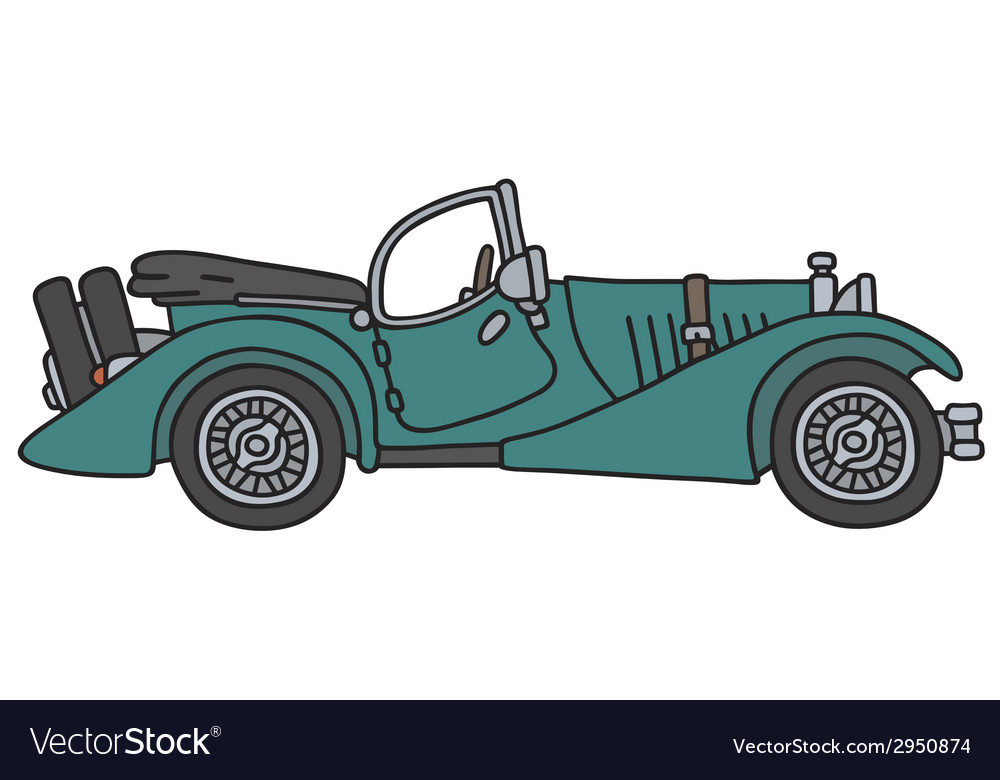 Vintage sports car vector | Price: 1 Credit (USD $1)