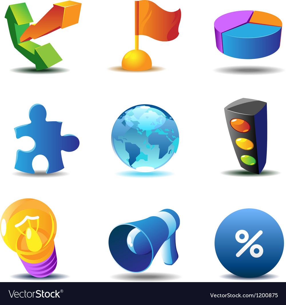 Business concept icons vector | Price: 1 Credit (USD $1)