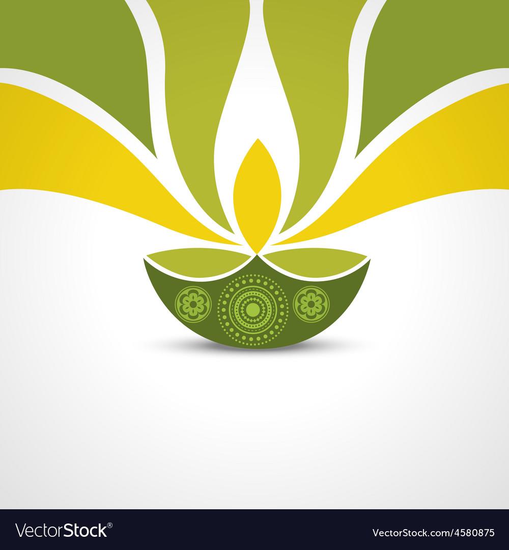 Happy diwali greeting vector | Price: 1 Credit (USD $1)