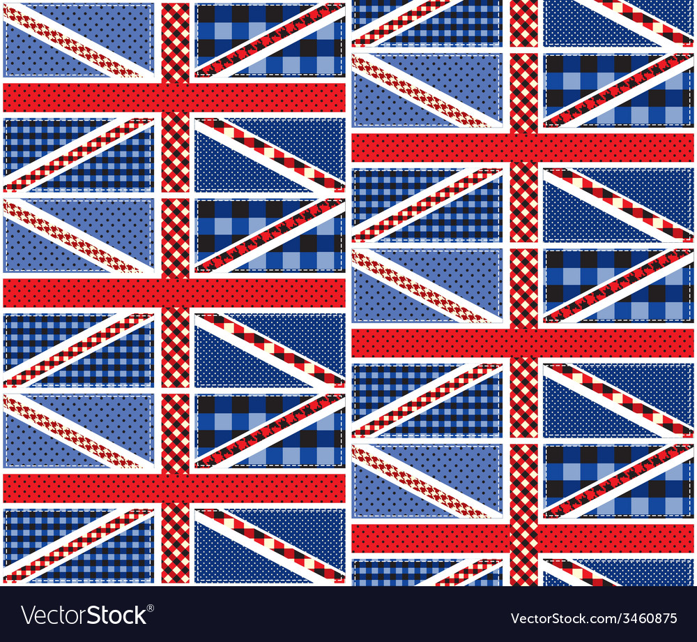 Patchwork of british flag vector | Price: 1 Credit (USD $1)