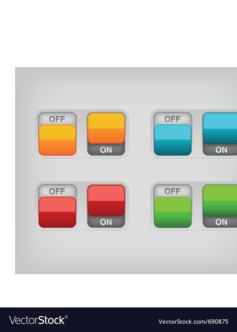 Switch on off vector | Price: 1 Credit (USD $1)