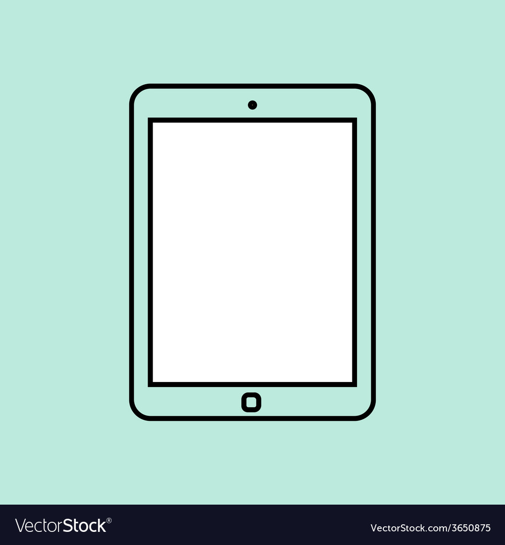 Tablet computer design template element for web vector | Price: 1 Credit (USD $1)
