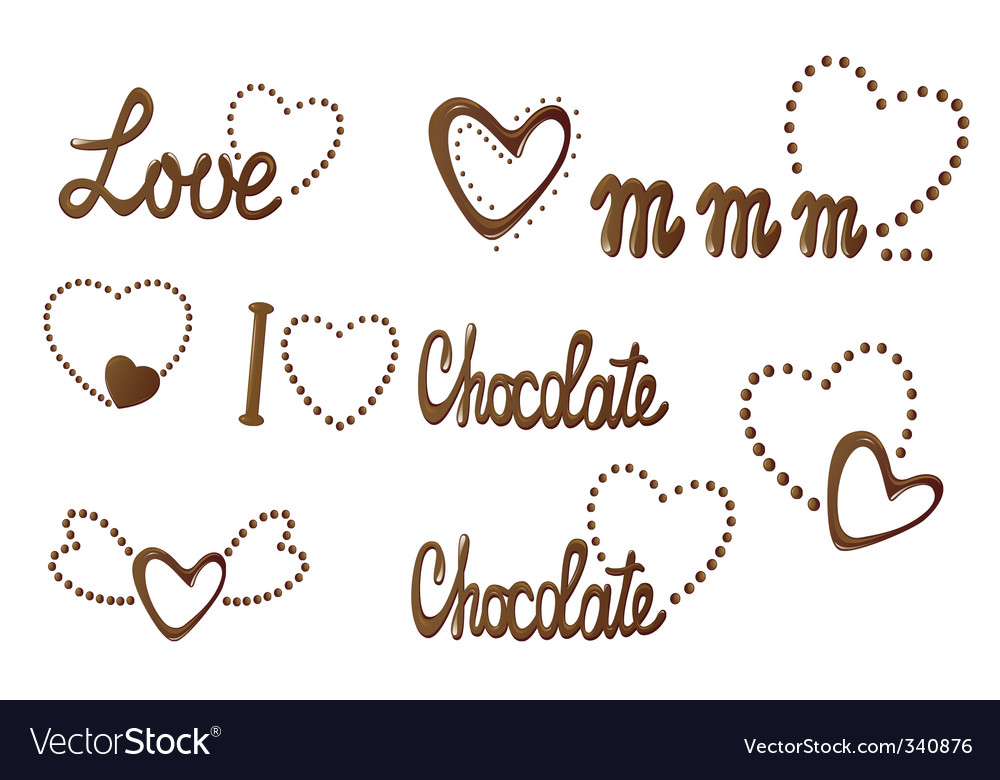 All about love and chocolate vector | Price: 1 Credit (USD $1)