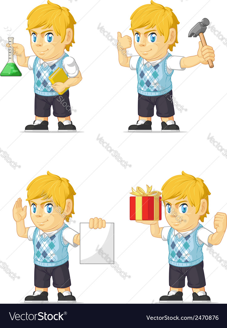 Blonde rich boy customizable mascot 6 vector | Price: 1 Credit (USD $1)