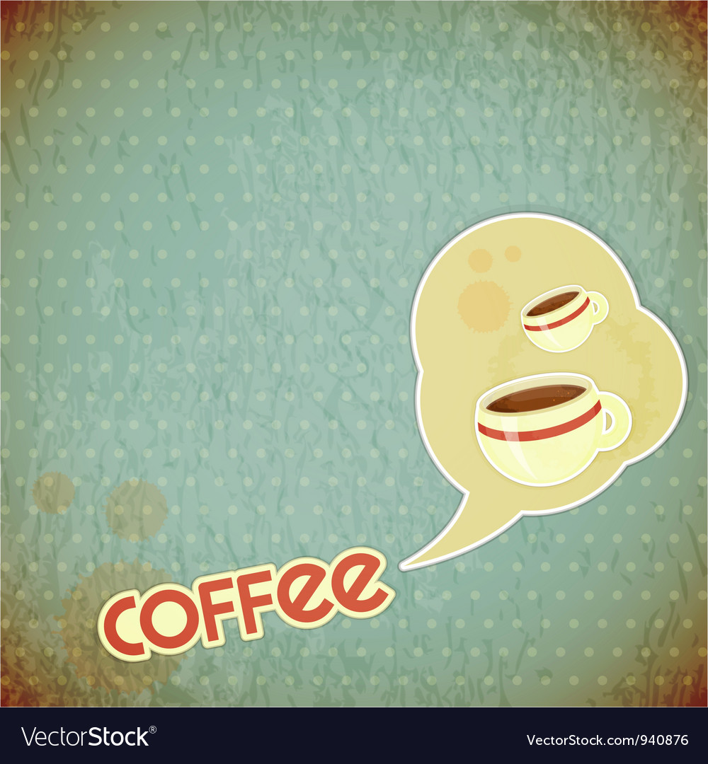 Coffee cups and lettering coffee vector | Price: 1 Credit (USD $1)