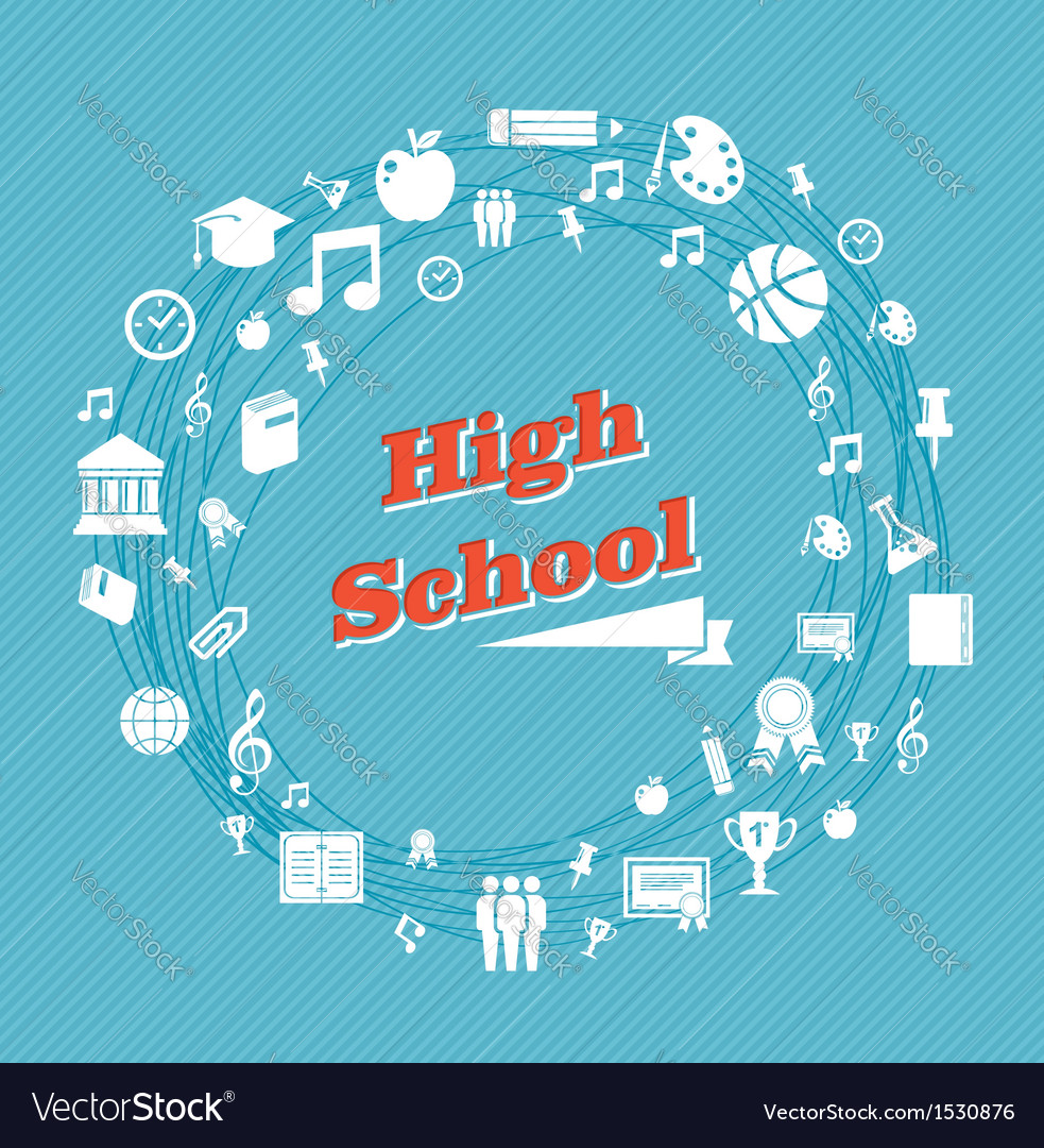 Education high school icons vector | Price: 1 Credit (USD $1)