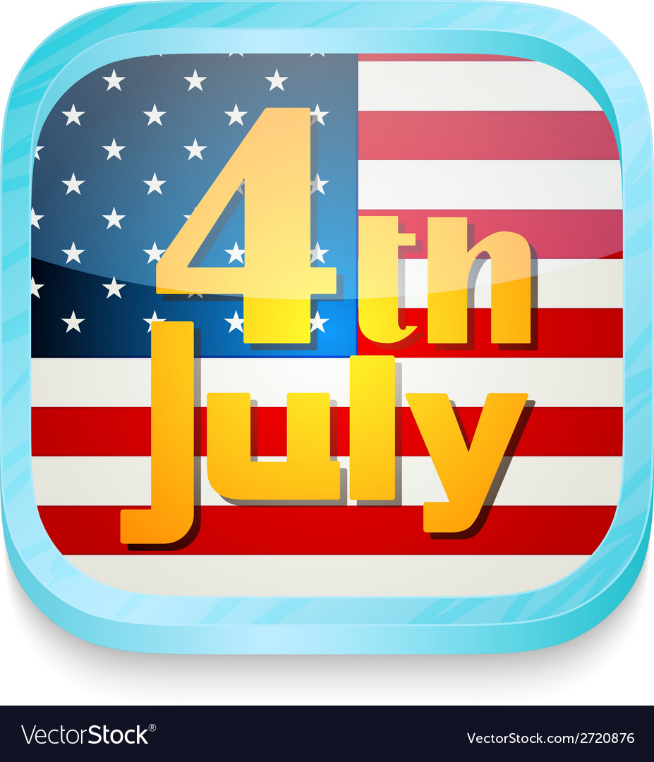 July 4th button vector | Price: 1 Credit (USD $1)