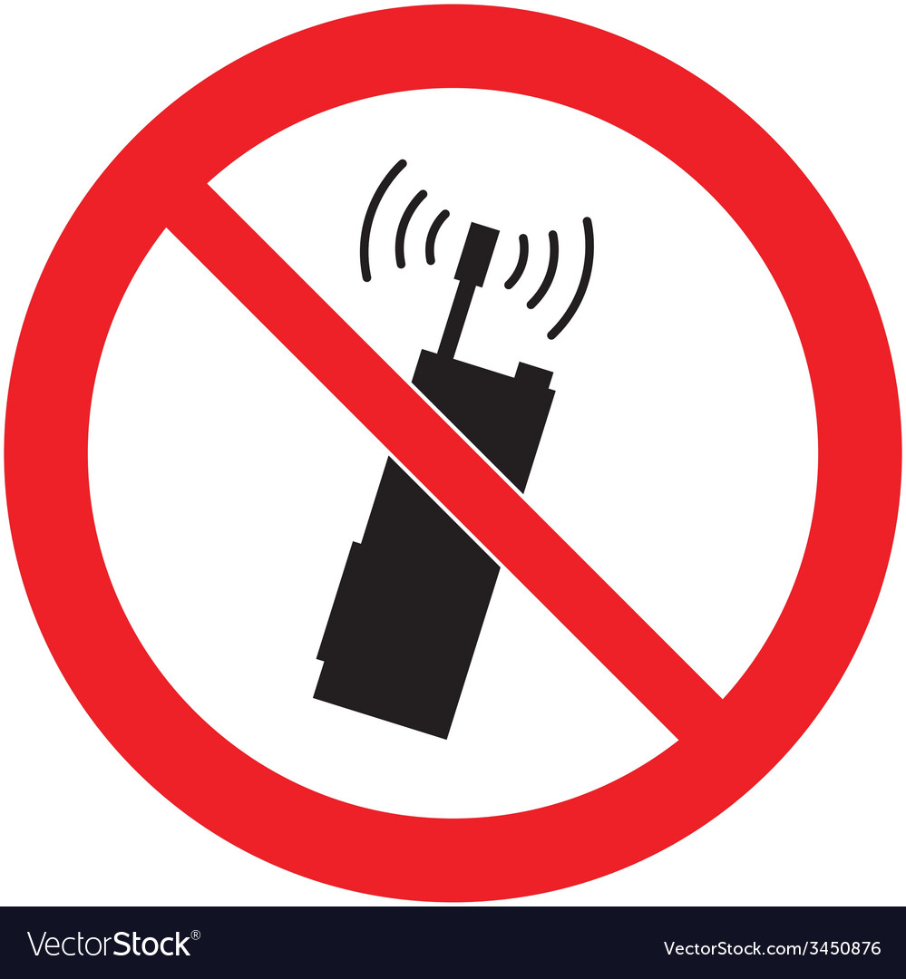 No mobile phones safety sign vector