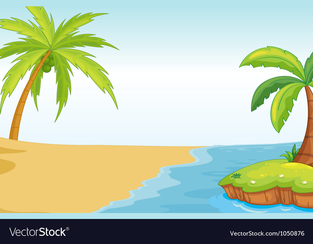 Palm beach background vector | Price: 1 Credit (USD $1)