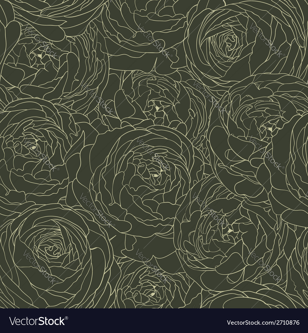 Seamless floral background with flowers rose vector | Price: 1 Credit (USD $1)