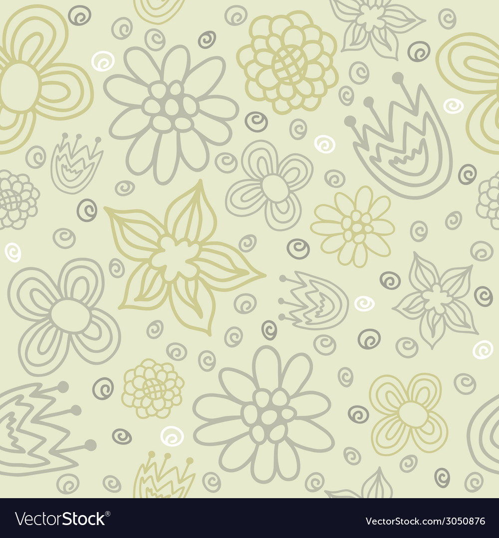 Seamless pattern with colored flowers vector | Price: 1 Credit (USD $1)
