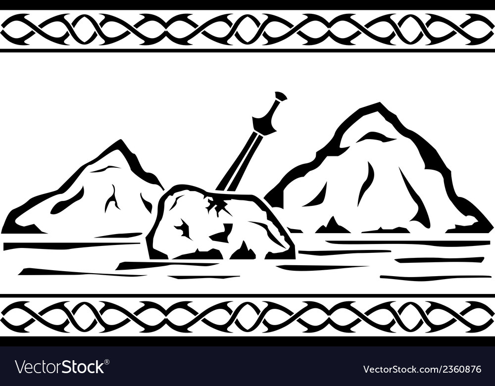 Sword in the stone vector | Price: 1 Credit (USD $1)