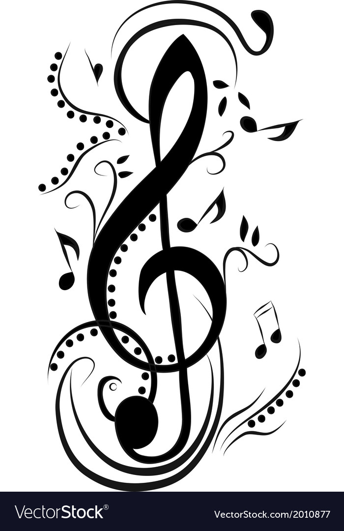 Abstract treble clef vector | Price: 1 Credit (USD $1)