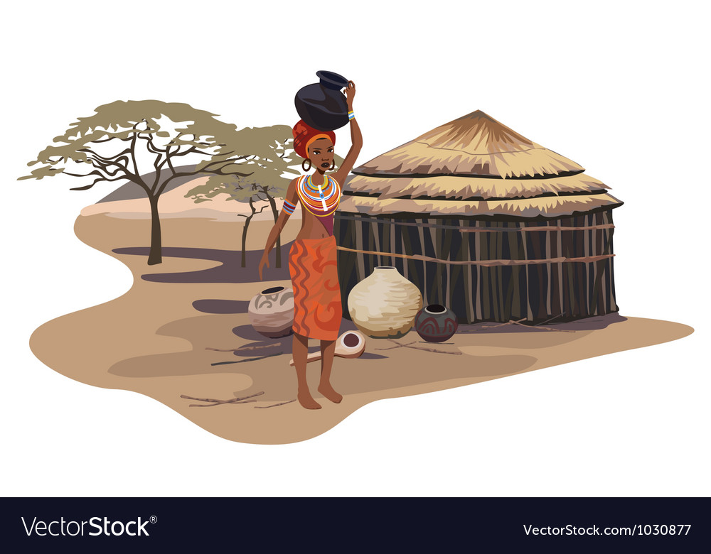 Africa culture vector | Price: 1 Credit (USD $1)