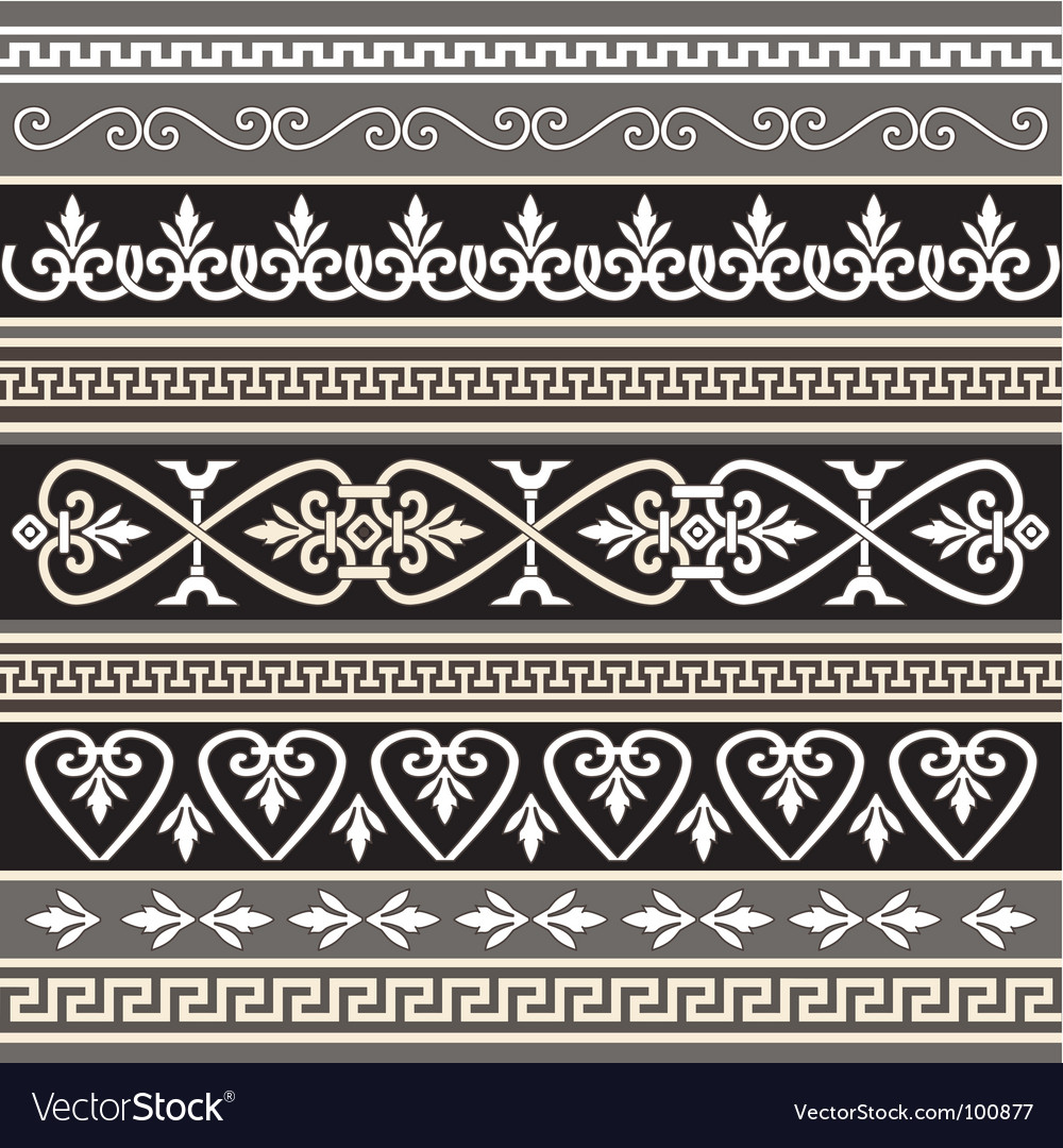 Antique borders for your design vector | Price: 1 Credit (USD $1)