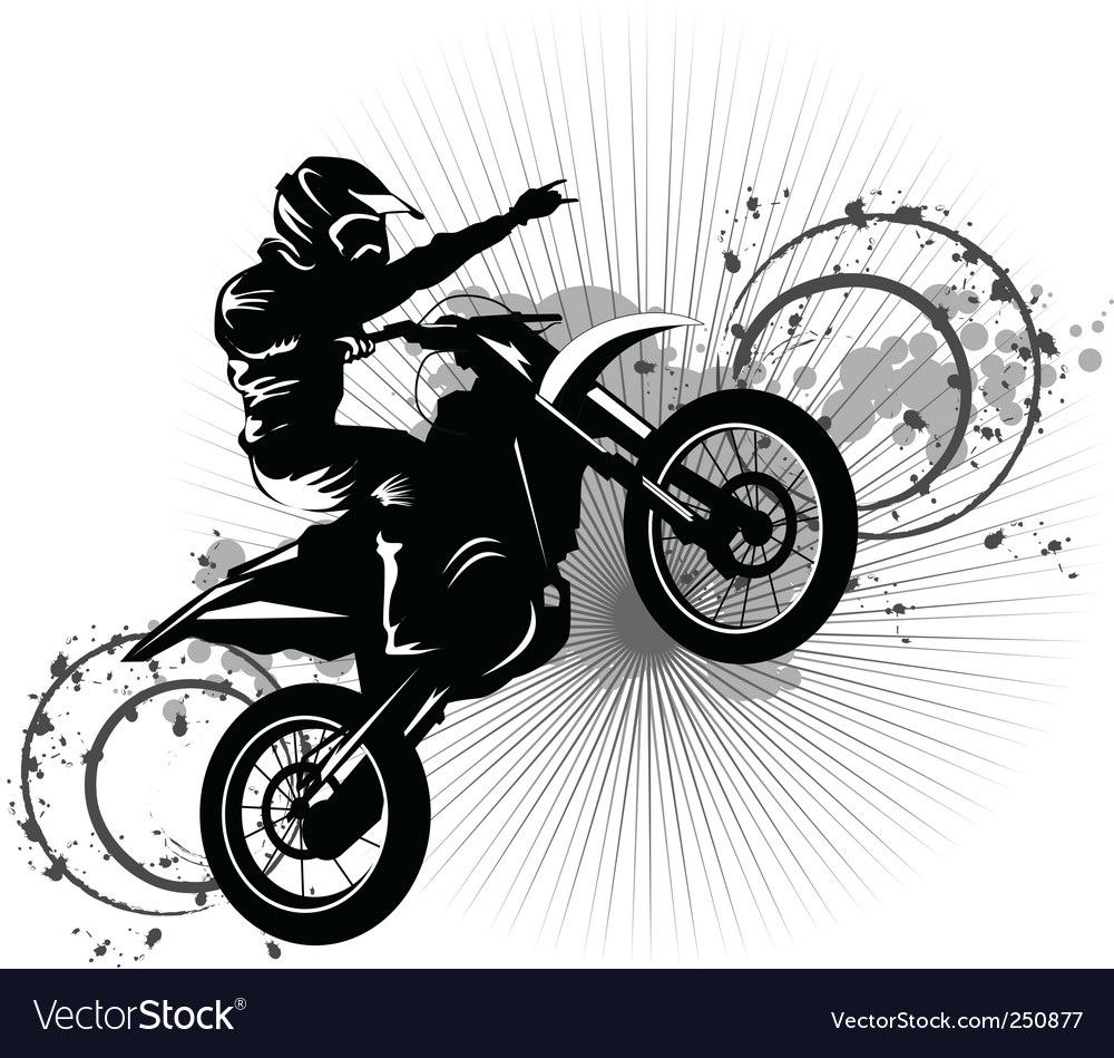 Black bike vector | Price: 1 Credit (USD $1)