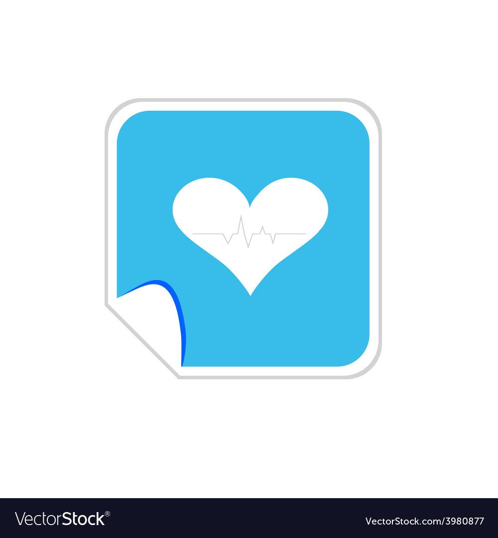 Heartbeat blue icon vector   Price: 1 Credit (USD $1)