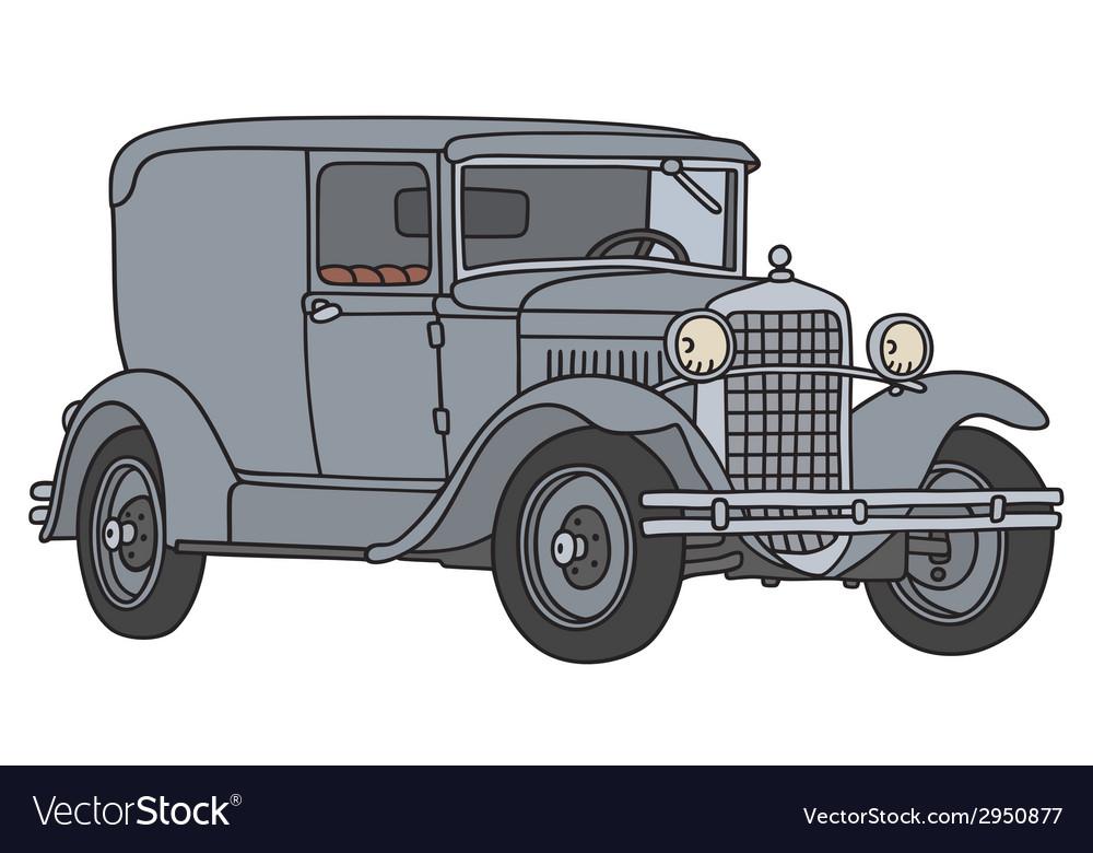 Vintage delivery car vector | Price: 1 Credit (USD $1)