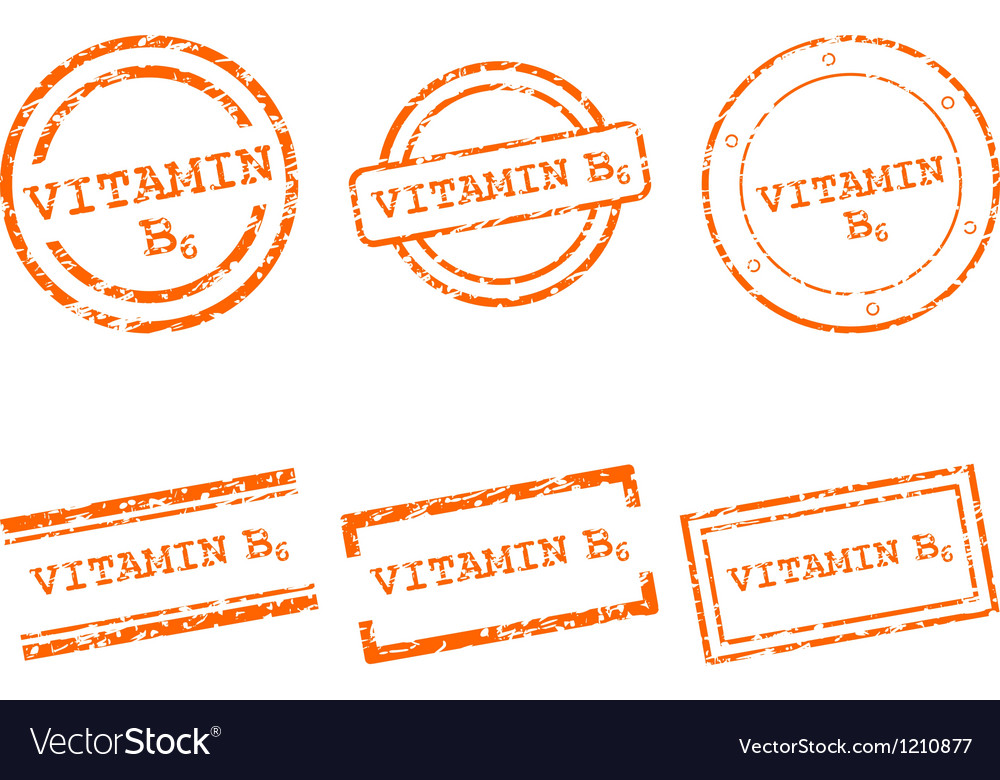 Vitamin b6 stamps vector | Price: 1 Credit (USD $1)