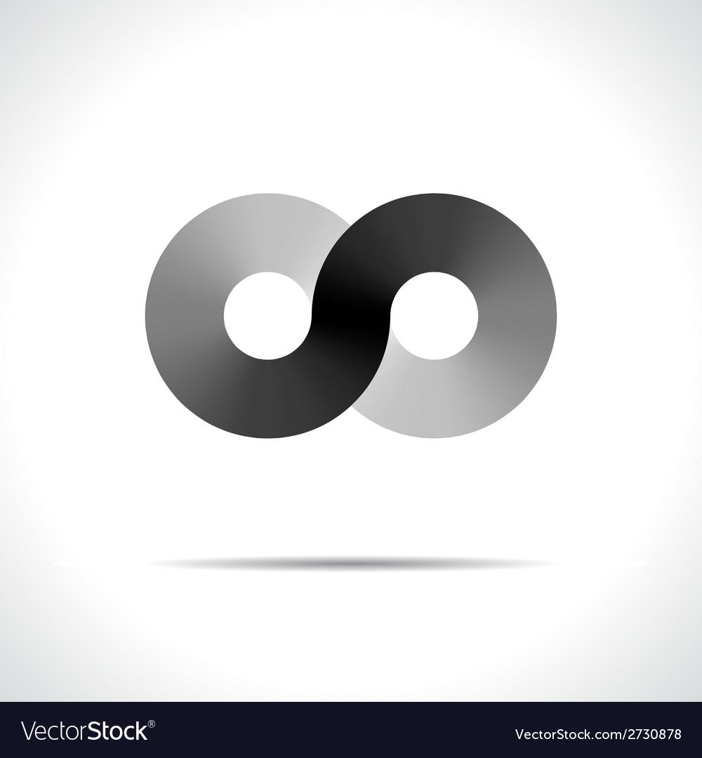 Abstract logo design template disco symbol vector | Price: 1 Credit (USD $1)
