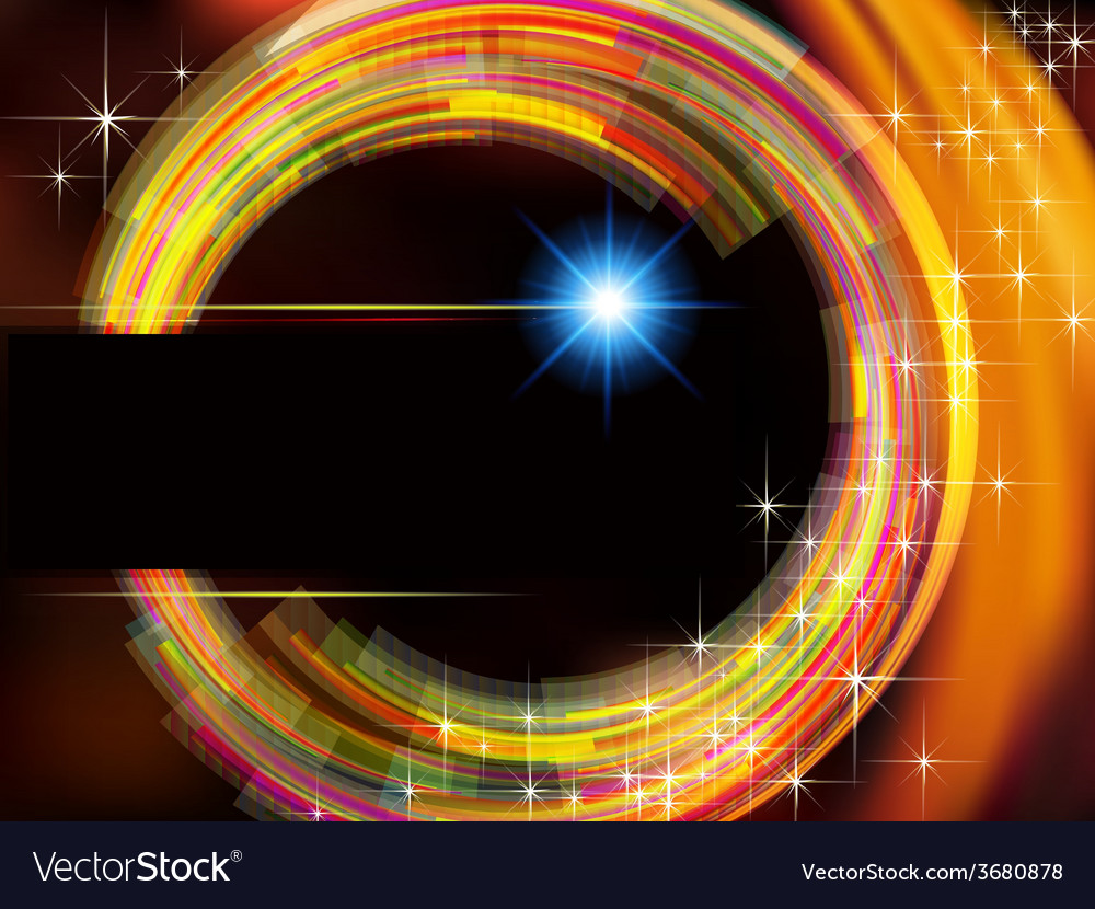 Abstract technology background with fire circle vector | Price: 1 Credit (USD $1)