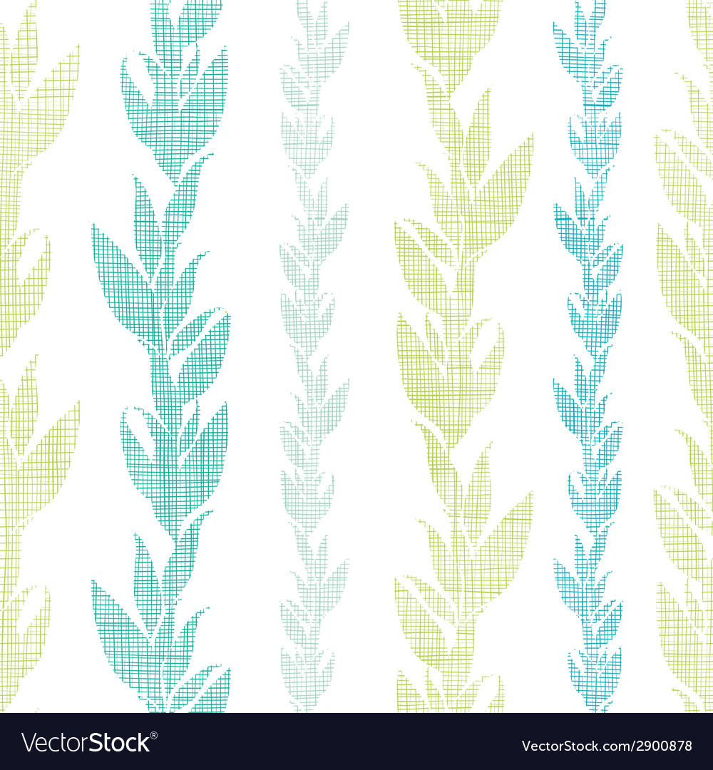 Blue green seaweed vines seamless pattern vector | Price: 1 Credit (USD $1)