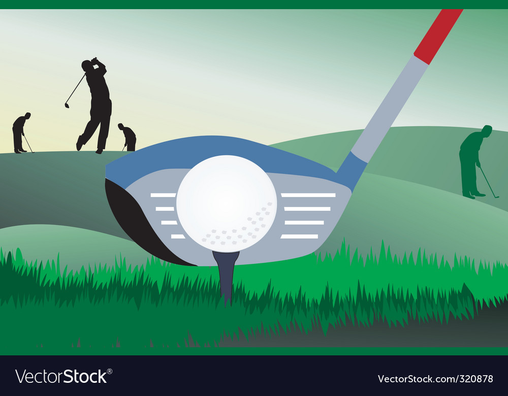Golfer vector | Price: 1 Credit (USD $1)