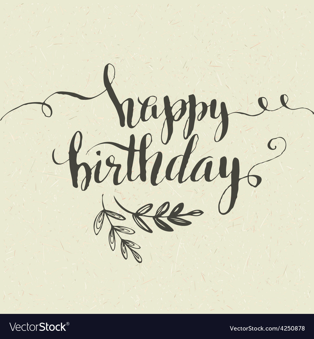 Happy birthday hand-drawn card vector | Price: 1 Credit (USD $1)